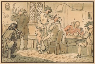 'Breakfast scene from 'The Five Days Peregrination', 1732. Artist: William Hogarth.