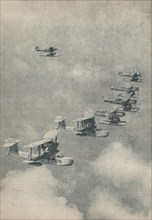 Flying boats and floatplanes from aircraft carriers of the Royal Navy, c1936 (c1937). Artist: Unknown.