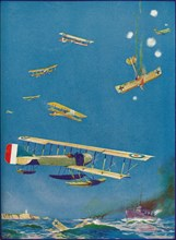 'Coast Defence: the Raiders' Fate', c1918 (1919). Artist: WH Holloway.