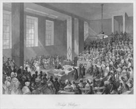 'King's College', c1841. Artist: Henry Melville.