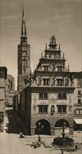 'Nysa, Silesia, Poland (Schlesien) - Treasury and Town Hall tower', 1931. Artist: Kurt Hielscher.