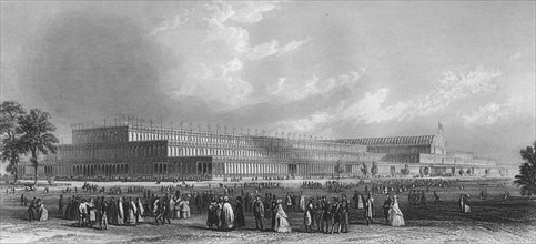 'A View of the Great Industrial Exhibition in Hyde Park', 1859. Artist: JC Armytage.