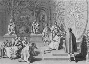 'L'Yncas consacre son Vaze au Soleil', c1723.