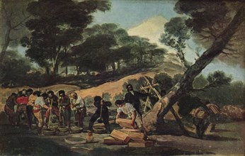 'Powder production in the Sierra de Tardienta', 1814 (1939). Artist: Francisco Goya.