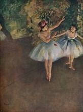 'Two Ballet Dancers on the Stage (Deux Danseuses Sur La Scene)', 1874 (1946). Artist: Edgar Degas.