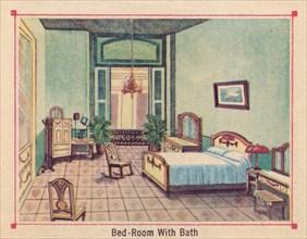 'Bed-Room With Bath - Hotel Florida - Havana - Cuba', c1910. Artist: Unknown.