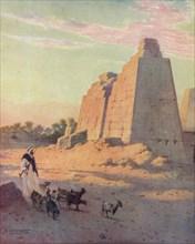 'Pylon at Karnak', c1880, (1904). Artist: Robert George Talbot Kelly.