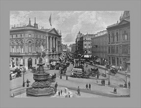 Piccadilly Circus, London, c1900. Artist: York & Son.