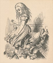'Alice and animals. Chaos and the court', 1889. Artist: John Tenniel.