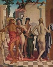 'The Judgment of Paris', 1929, (1931). Artist: Harry Morley.