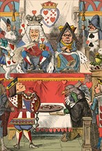 'The King and Queen of Hearts in Court', 1889. Artist: John Tenniel.