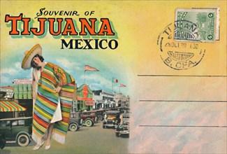 'Souvenir of Tijuana, Mexico', c1939. Artist: Unknown.