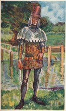 'A Man of the Time of Edward III', 1907. Artist: Dion Clayton Calthrop.