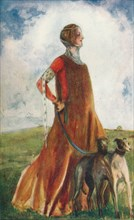 'A Woman of the Time of Edward III', 1907. Artist: Dion Clayton Calthrop.