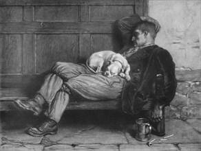 'Let Sleeping Dogs Lie!', 1880, (1912). Artist: Briton Riviere.