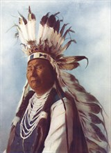 A Sahaptin chief, 1912. Artist: Robert Wilson Shufeldt.