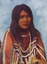A Sarcee Indian woman, 1912. Artist: W Hanson Boorne.