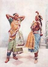 Baroda nautch girls, 1902. Artist: Vernon & Co.