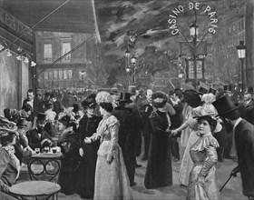 'Sur Le Boulevard - Devant Le Café De La Paix', 1900. Artist: Unknown.
