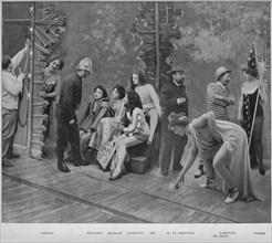 'Avant Les Trois Coups', 1900. Artist: Unknown.