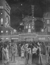 'Montmartre S'Amuse La Sortie Du Moulin Rouge',1900. Artist: Unknown.