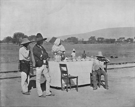 'A Coffee-Stand on the Mexican Central Railroad', 19th century. Artist: Unknown.