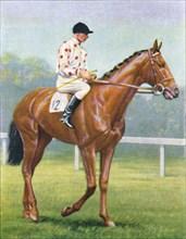 Flares, Jockey: R.A. Jones', 1939. Artist: Unknown.