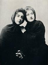 'Chilian Ladies in Church Attire (Manto)', 1911. Artist: Unknown.