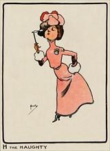 'H the Haughty', 1903. Artist: John Hassall.