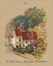 'Ye Olde Trip to Jerusalem, Nottingham', 1939. Artist: Unknown.