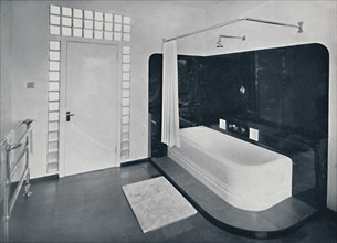 'Robin Byng - Bathroom in Grosvenor Square, London, showing te Insulight glass blocks made by Pilk Artist: Unknown.
