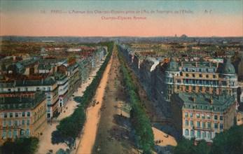 The Avenue des Champs-Elysées, Paris, c1920. Artist: Unknown.