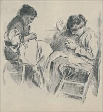'Spanish Seamstresses', 1919. Artist: James Kerr-Lawson.