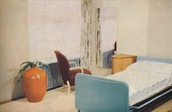 'Hotel bedroom', 1940. Artist: Unknown.