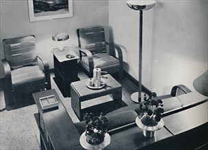 'A section of the living-room', 1936. Artist: Unknown.