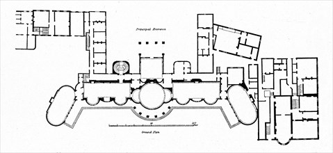 'Plan of the Pavilion showing alterations to Holland's original building completed in 1804', (1939). Artist: Unknown.