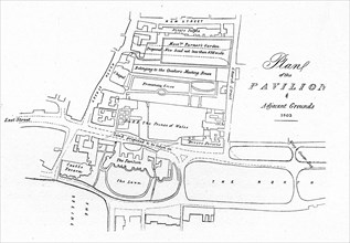 'Plan of the Pavilion & Adjacent Grounds - 1803', (1939). Artist: Unknown.