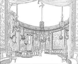 'The Saloon, about 1820. From Nash's Illustrations', (1939). Artist: Unknown.