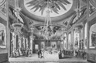 'The Banqueting Room', c1827, (1939).  Artist: Unknown.