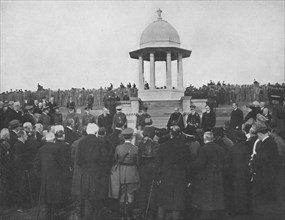 'Unveiling of the Chattri by H.R.H. The Prince of Wales, 1st February 1921', (1939). Artist: Unknown.