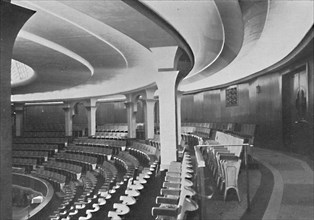 'The Dome: Interior After the Alterations - details of inner roof and panelling', 1939.  Artist: Unknown.