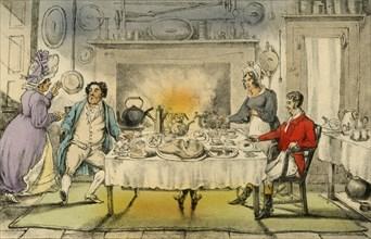 'Mr Jorrocks's Hunt Breakfast: a Terrible Surprise', 1838. Artist: Henry Thomas Alken.