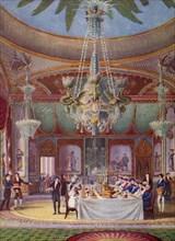 'A Banquet at the Royal Pavilion, Brighton', c1827, (1938). Artist: Joseph Nash.