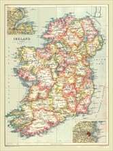 Map of Ireland, 1902.  Creator: Unknown.