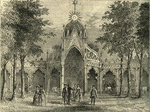 'Chinese Pavilion in Vauxhall Gardens', (c1878). Creator: Unknown.