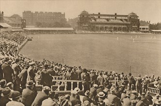 'Looking Towards The Pavilion From The Mound Stand At World-Famous Lord's', c1935. Creator: Unknown.
