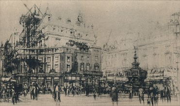 'Piccadilly Circus', 1927. Creator: William Walcot.