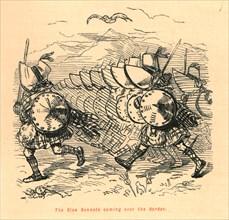 'The Blue Bonnets coming over the Border', 1897. Creator: John Leech.