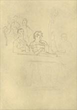 'In der Loge', mid-late 19th century, (c1924).  Creator: Carl Spitzweg.