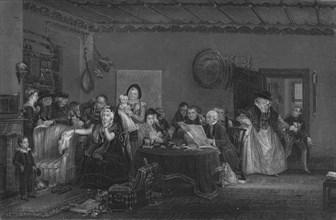 'Reading the Will', c1820. Creator: William Greatbach.